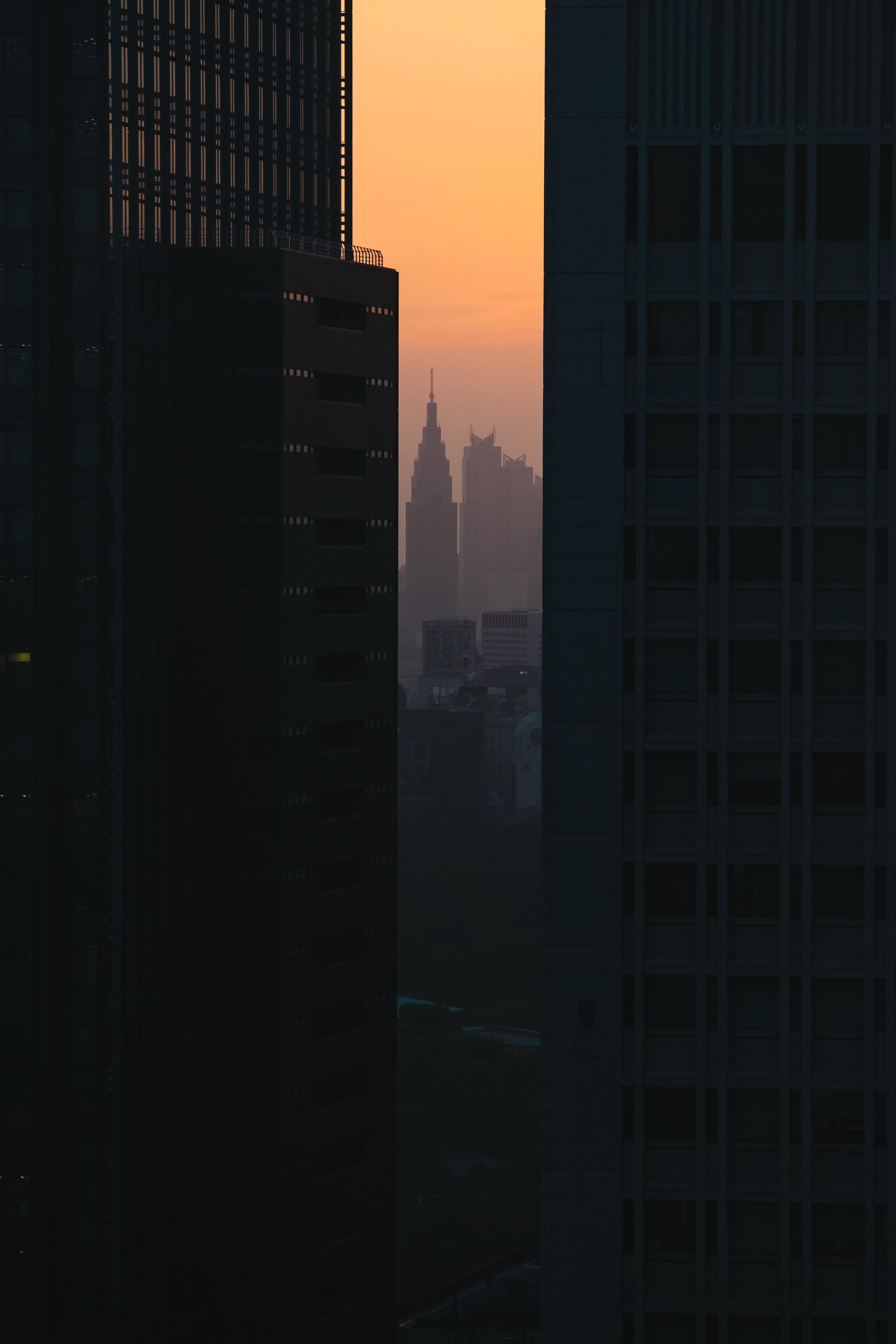 Docomo-building-sunset
