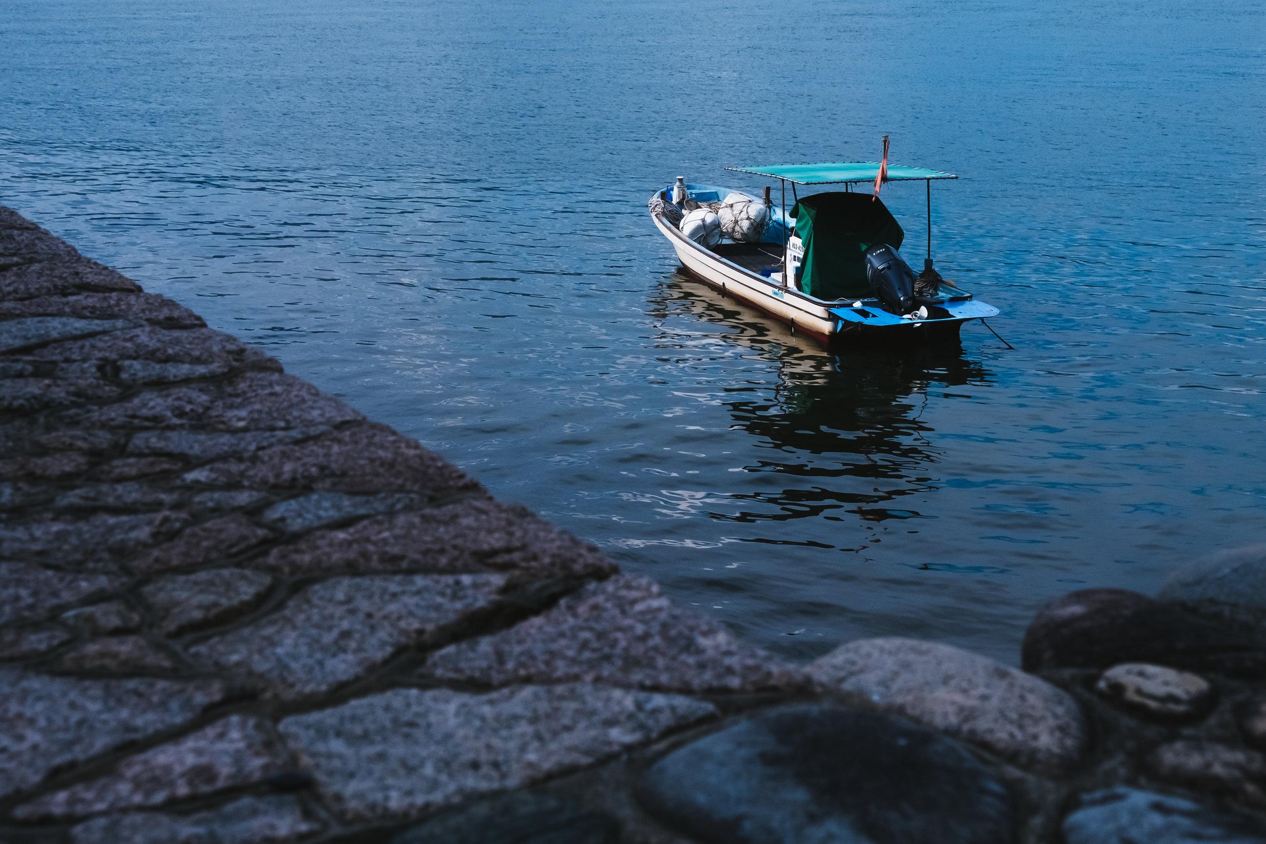 boat in Miyajima