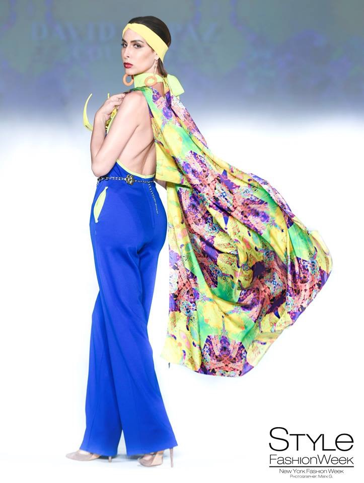 David Tupaz SS19 | James Stanford 'Lucky Lady' Silk Scarf | Mark Gunter Photography