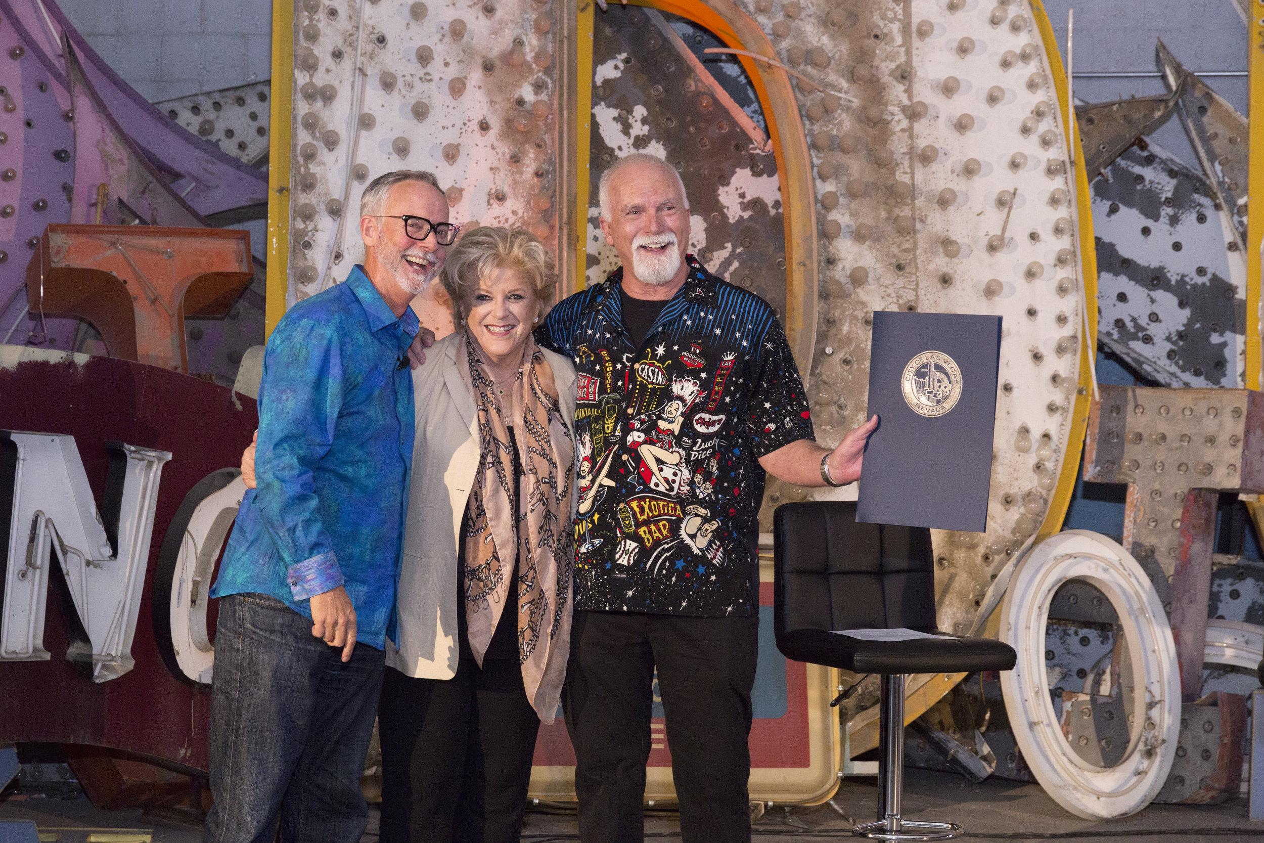 Rob McCoy, Mayor Carolyn Goodman, James Stanford