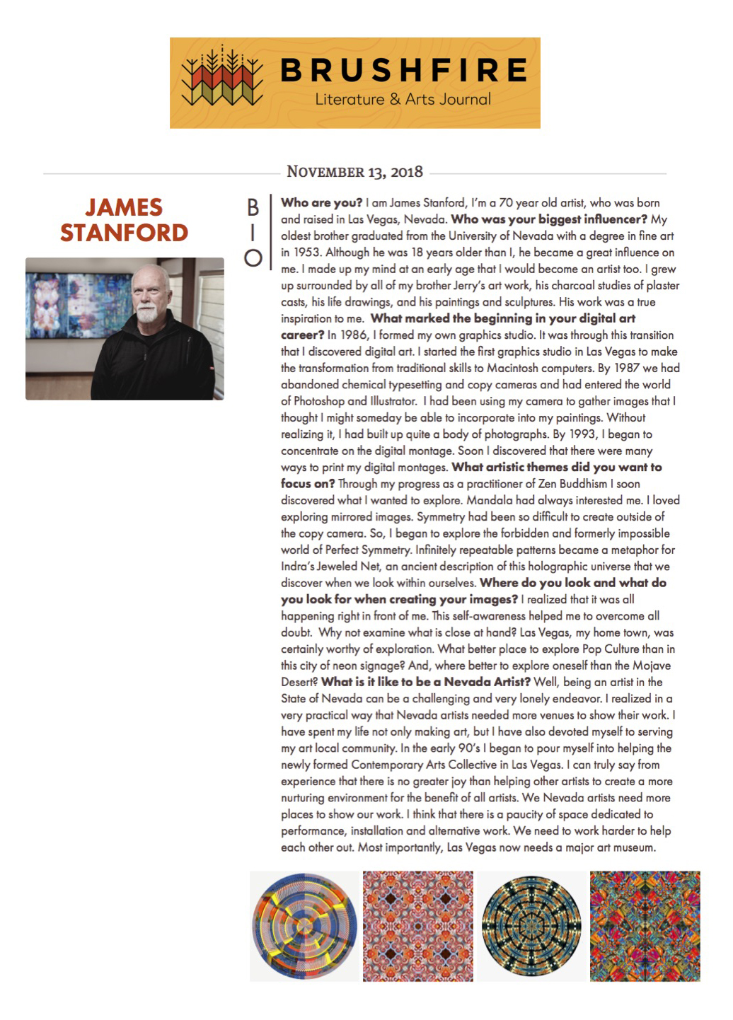 James Stanford Brushfire Literature & Arts Journal (Artist Spotlight) November 2018.jpg