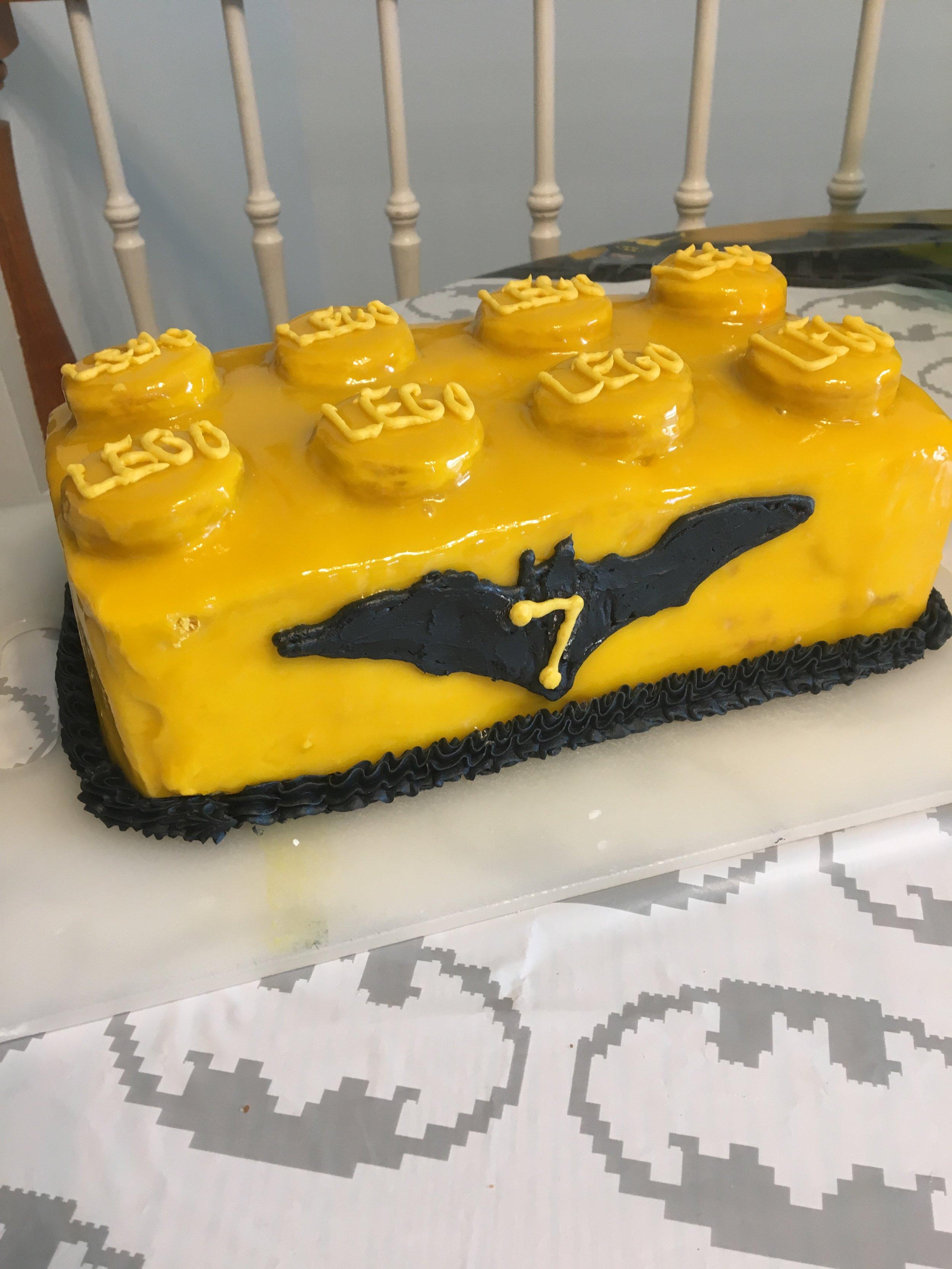Batman LEGO Cake — Six Tablespoons