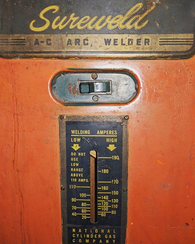 Type appreciation post - how sexy is this Sureweld type on this old school welder control panel? #type #typer #typography #typetherapy #typegang #typematters #typespire #typespiration #handlettering #handlettered #lettered #lettering #vintage #vintagelettering