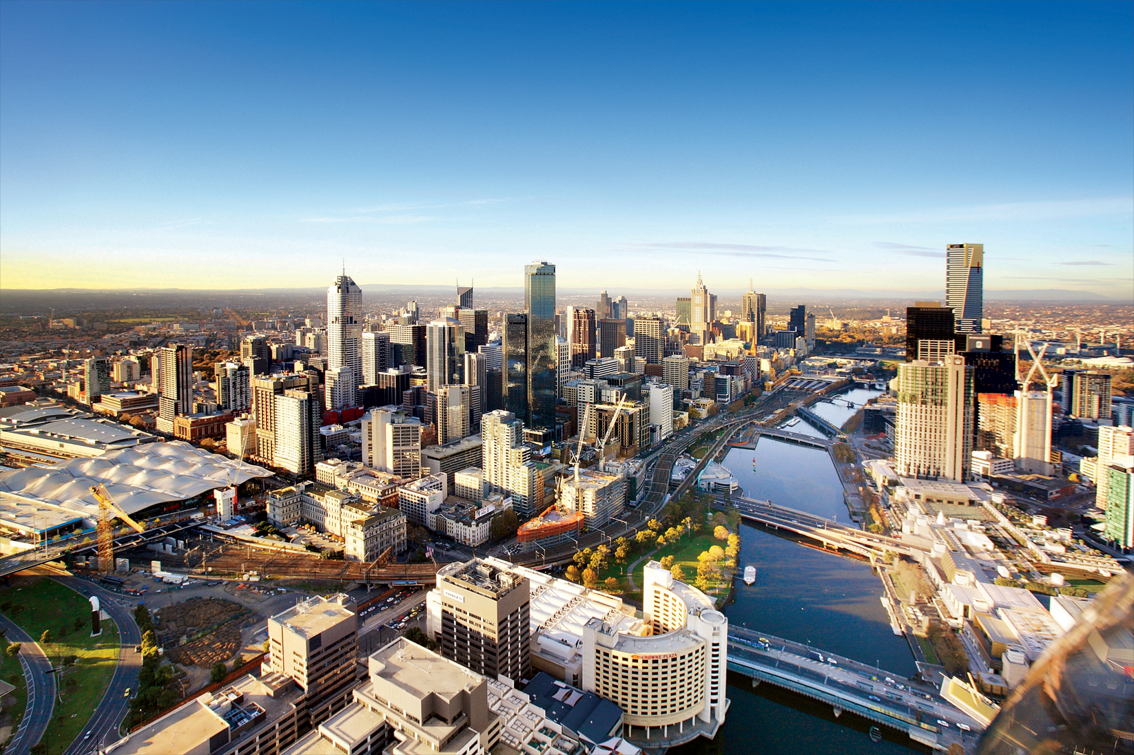 Melbourne City Aerial Shot