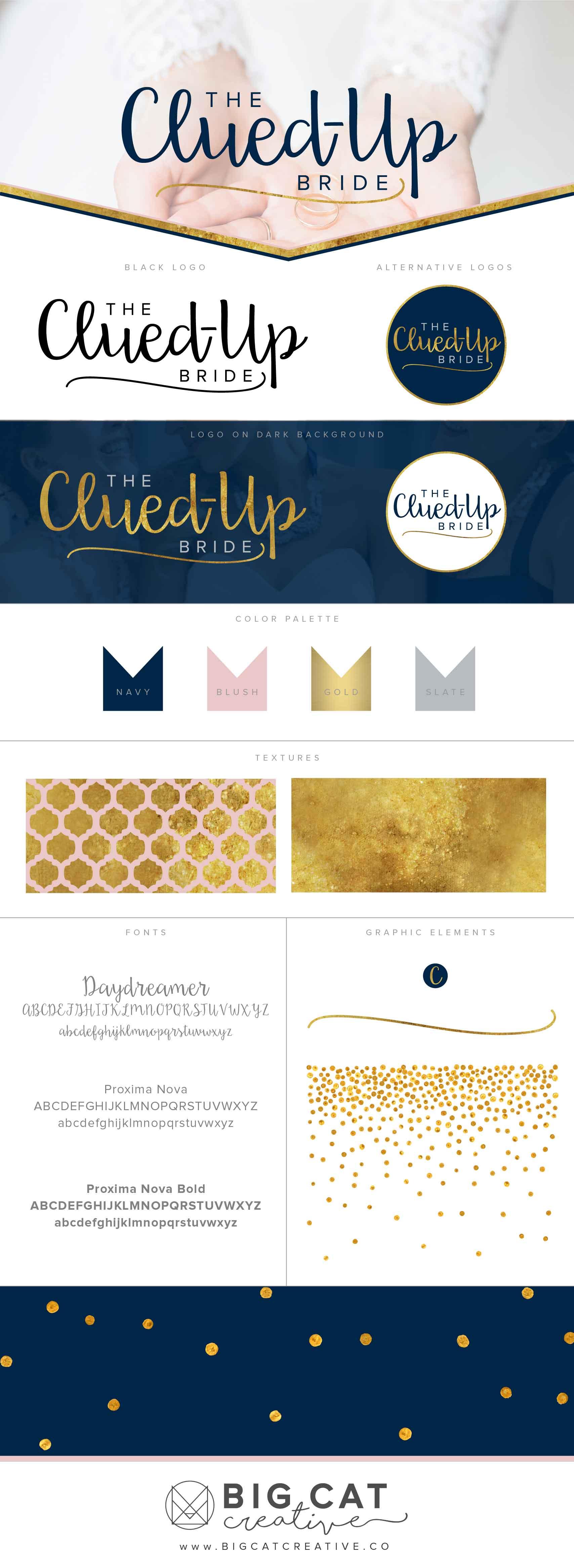 The Clued-Up Bride Branding Style Board | Branding + Logo Design
