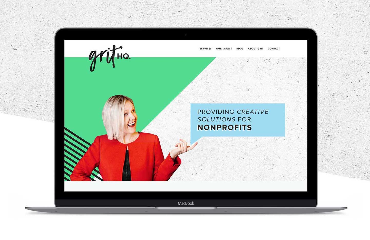 Brand and Squarespace Website Design for GRIT HQ by Big Cat Creative