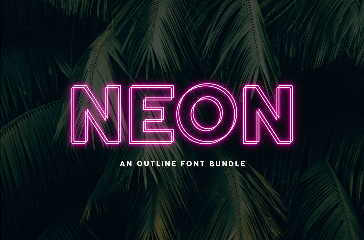 Neon Font by Big Cat Creative