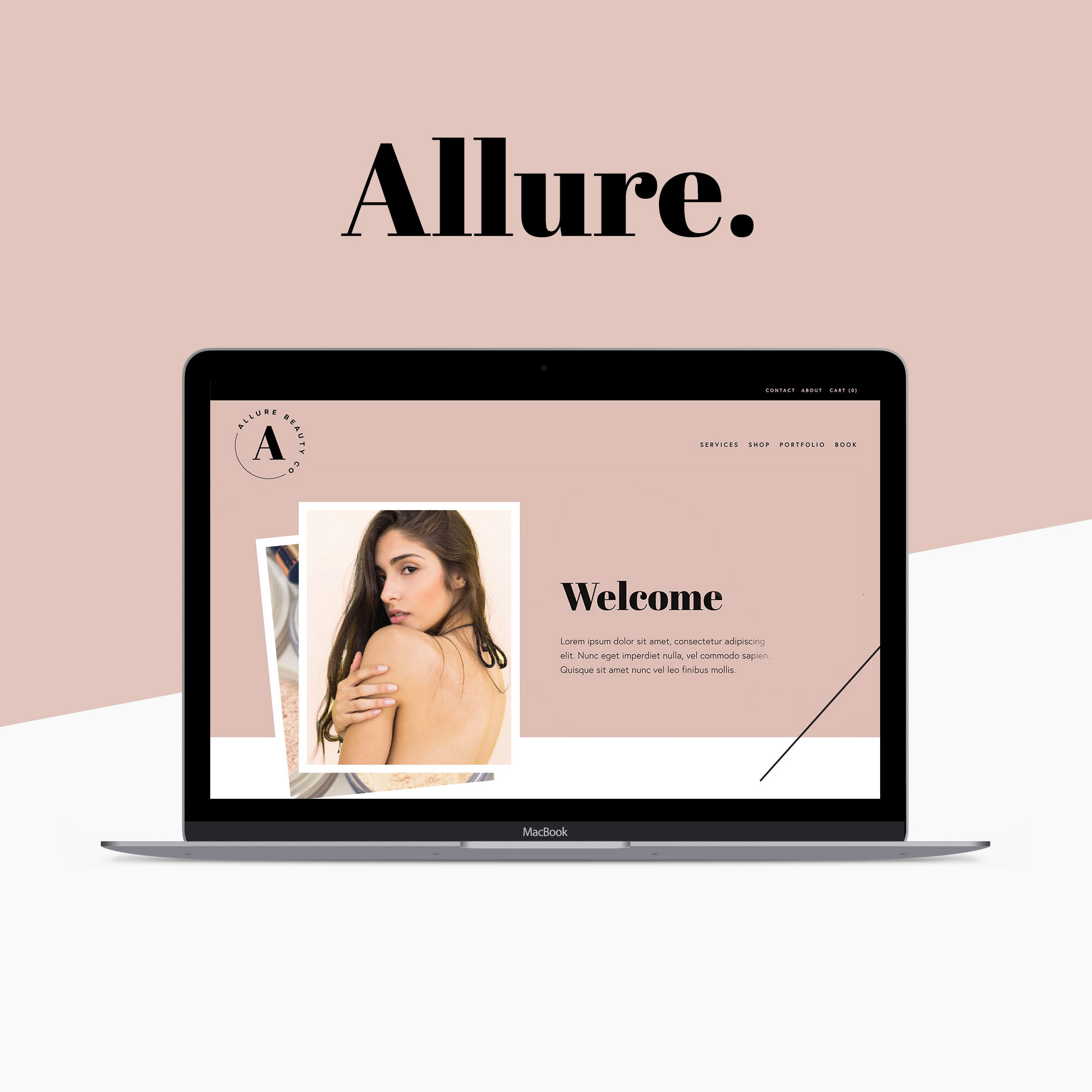 Allure Squarespace Website Template by Big Cat Creative