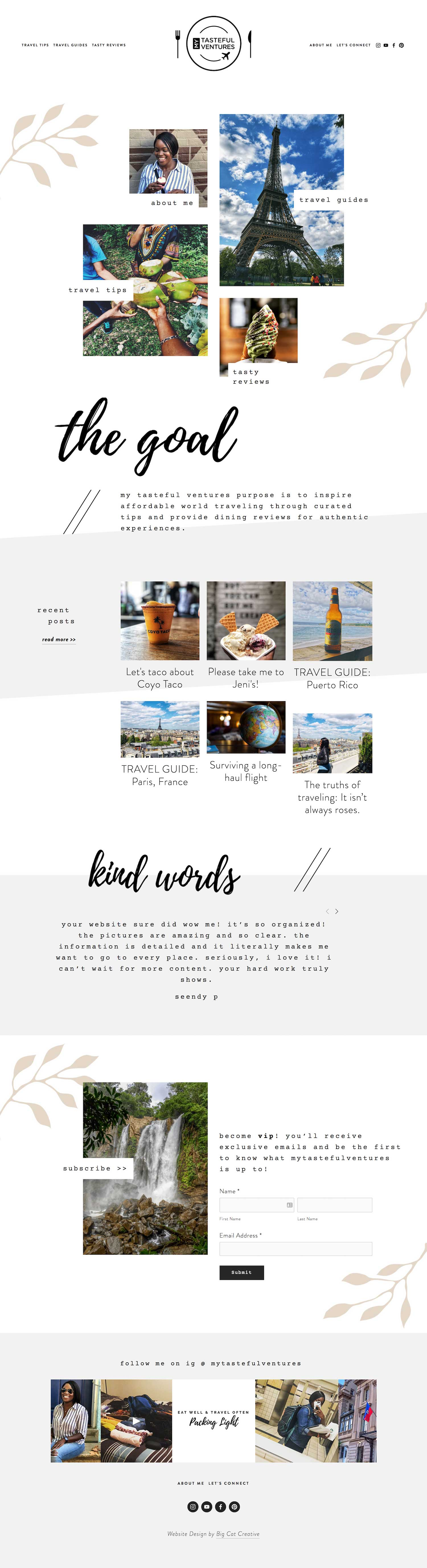 Squarespace Template Design by Big Cat Creative - Paradiso Template Showcase - My Tasteful Ventures
