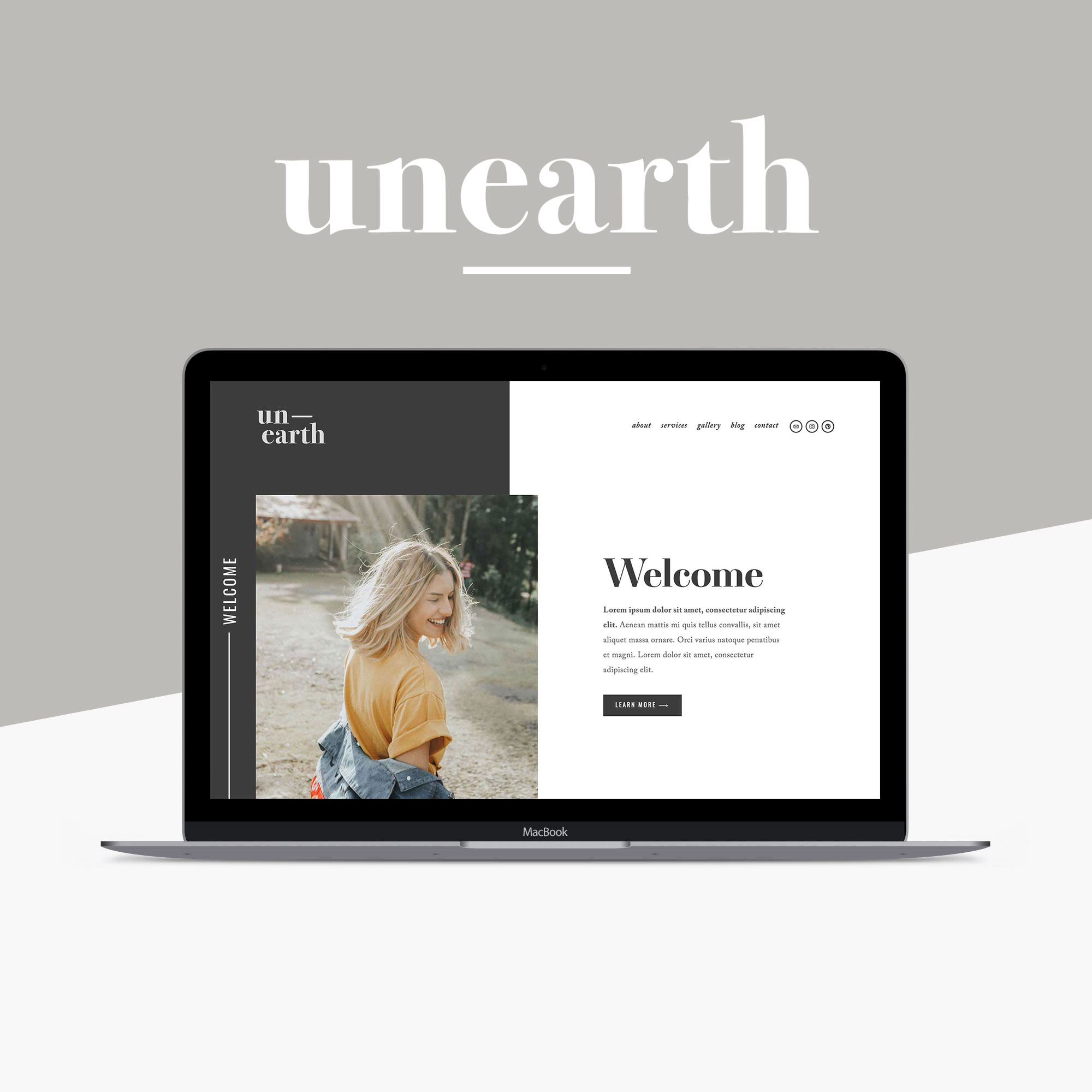 Unearth Squarespace Website Template by Big Cat Creative