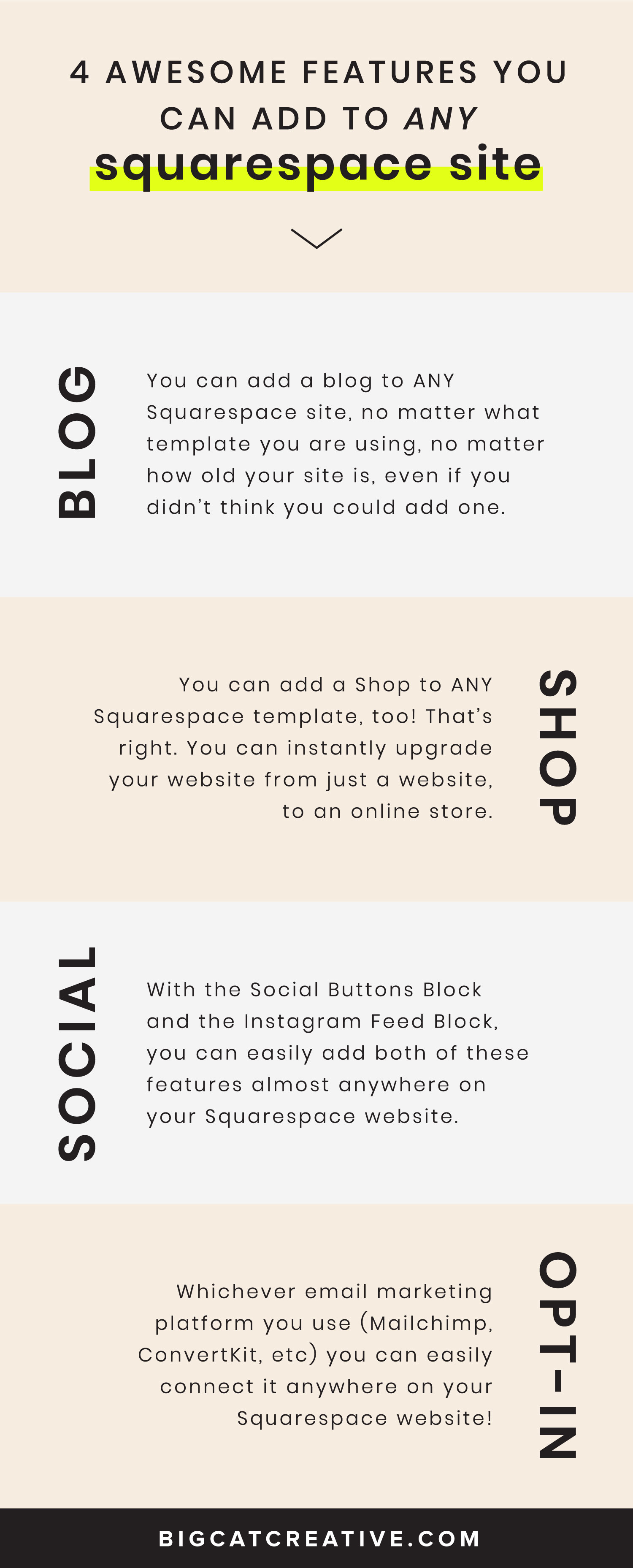 4 Awesome Features you can add to any Squarespace Website