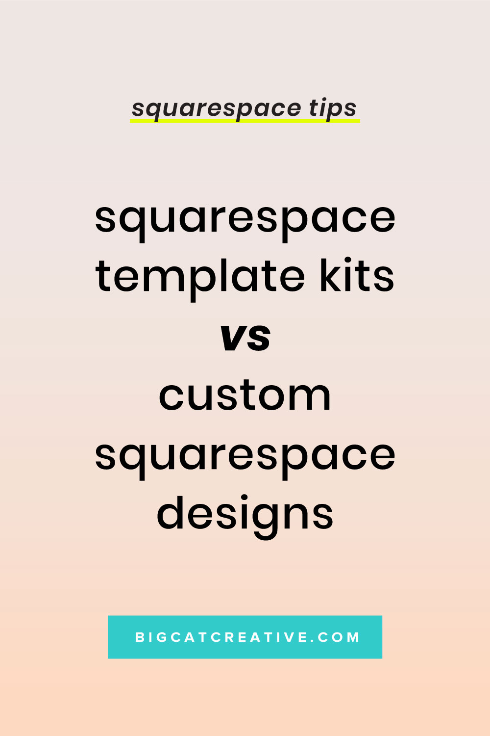 Should I buy a Squarespace Template Kit, or a Custom Squarespace Website Design? Learn the pros and cons of both, and which you should go with!