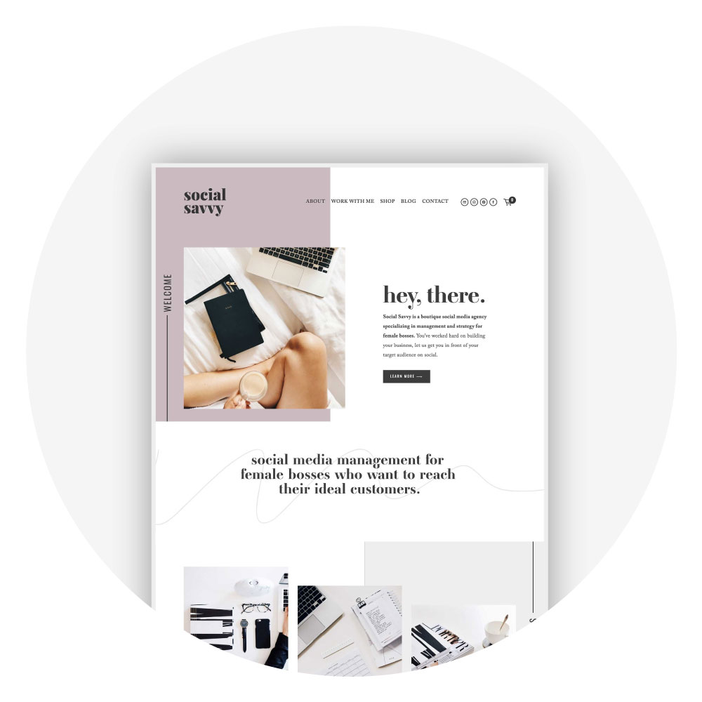 Squarespace Template Kit Showcase and Testimonial - Unearth Template