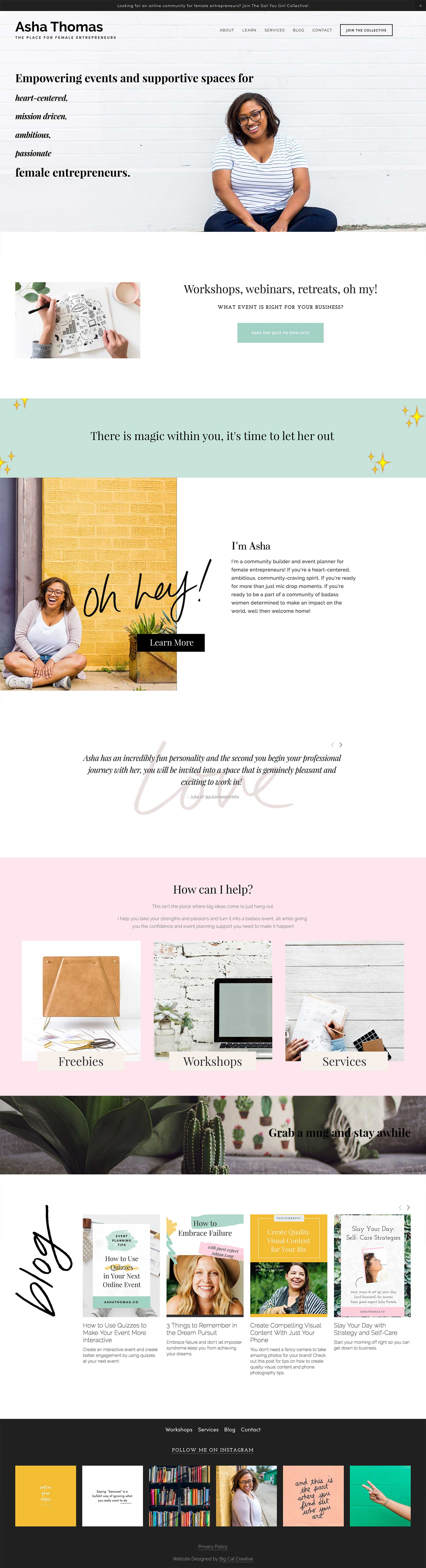 Lacy Squarespace Template by Big Cat Creative - Easy to use Squarespace Template Kits - Squarespace Template | Squarespace Theme | Squarespace Website Design | Squarespace Template for Sale | Website Template | Website Theme | Modern Website Design | Squarespace Inspiration | Website Layout | Blog Design | Minimal Web Design | Squarespace Kits | Templates #squarespace #webdesign #design