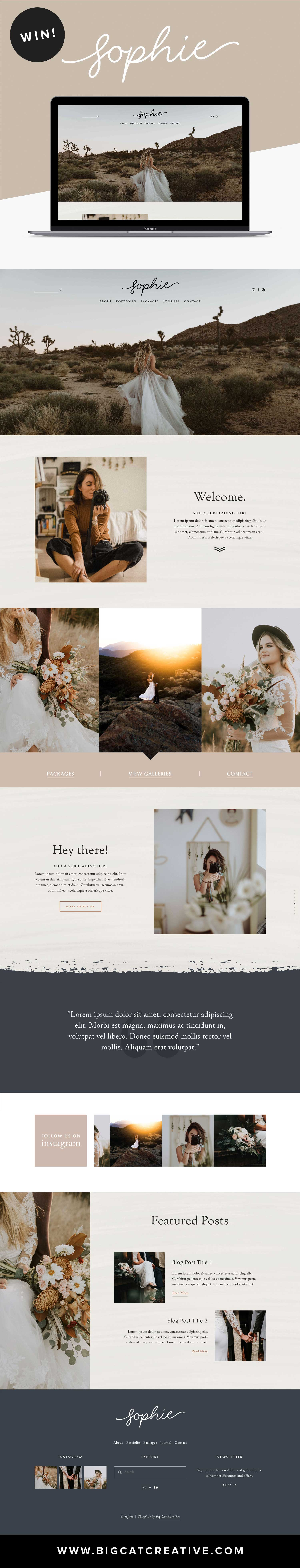 Sophie Squarespace Template Kit by Big Cat Creative