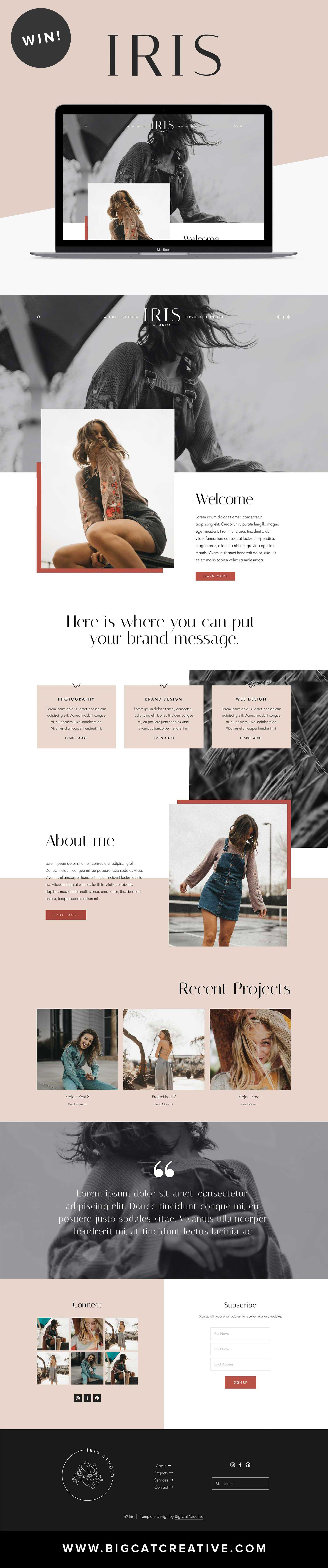 Iris Squarespace Template Kit by Big Cat Creative