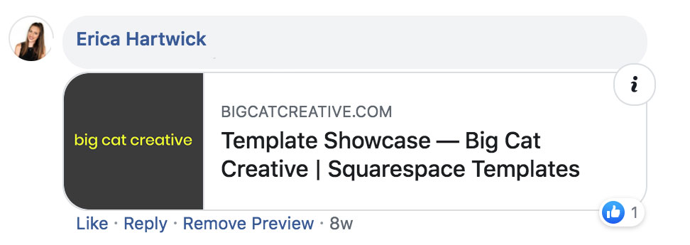 How to get the right size for your Squarespace Logo on Facebook - Big Cat Creative