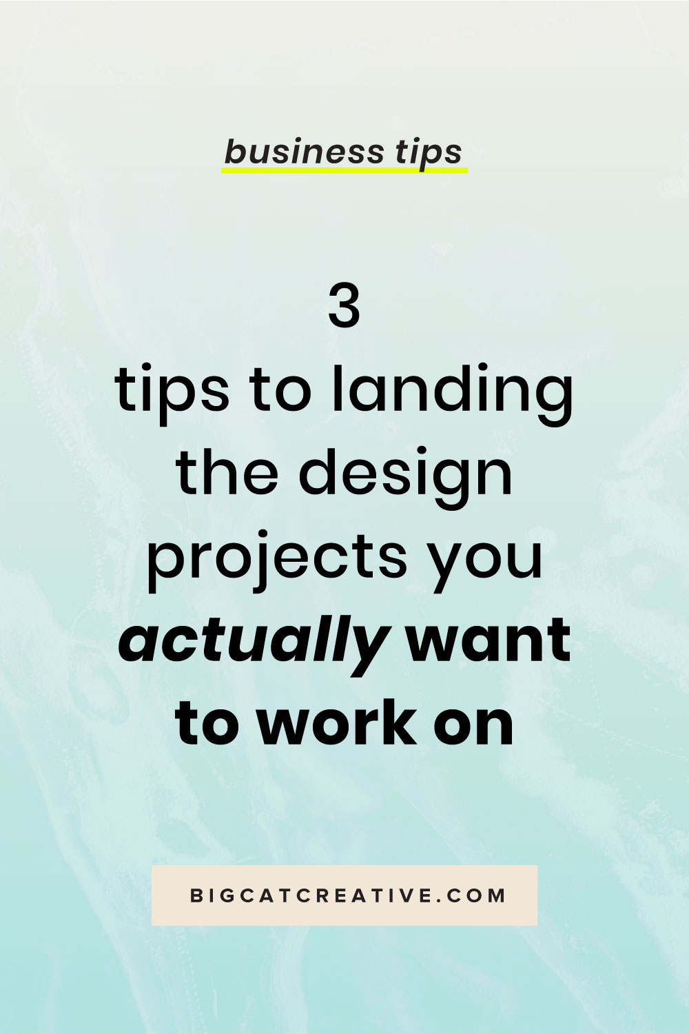 Running your own online design business can be tricky. Use these 3 tips so you can start landing the design projects that you actually enjoy | Graphic Design Business Tips by Big Cat Creative | Design, Designer, Freelancer, Graphic Design, Design Business, Online Design Business, Getting Design Clients, Design Tips