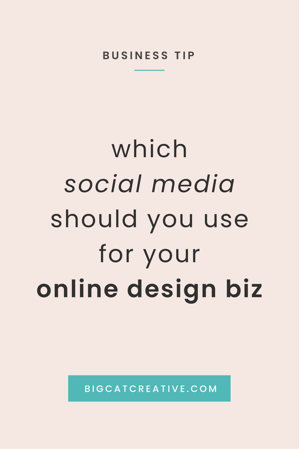 Social Media for Online Design Businesses | How to Decide Which Social Media to use for your Online Business | Social Media and Business Tips by Big Cat Creative | Social Media for Designers | How to Use Social Media Effectively for Online Business