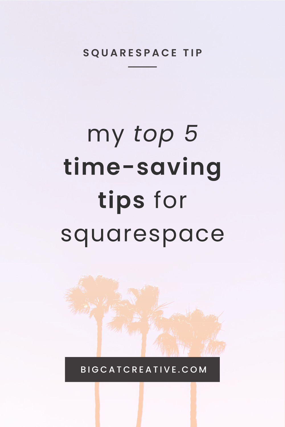My Top 5 Time-Saving Tips for Squarespace - Squarespace Tutorials by Big Cat Creative | Squarespace Web Design Tips | Design Tips for Squarespace | Working Efficiently in Squarespace | How to Save Time With Squarespace | Best Squarespace Tips