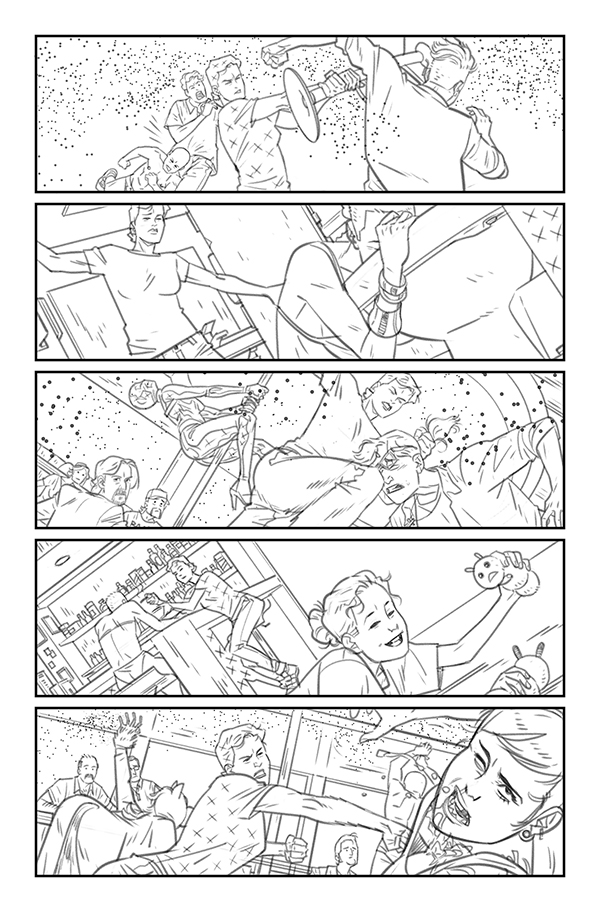 Daniel Hillyard's pencils for THE RIDE: BURNING DESIRE #2, page 6