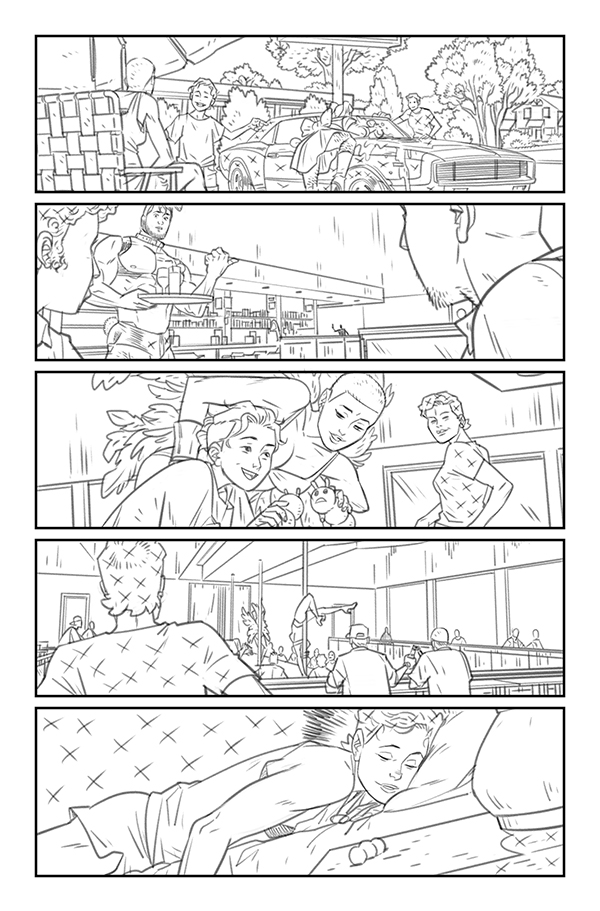 Daniel Hillyard's pencils for THE RIDE: BURNING DESIRE #2, page 7