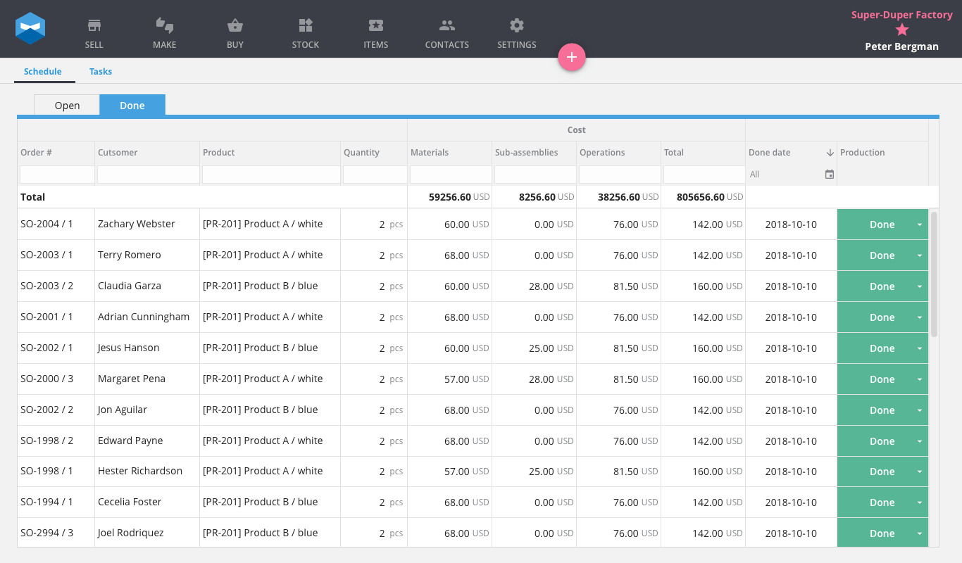 Trim all the fat from your order fulfillment process with Katana. Make, buy, and sell from one interface. The just-in-time approach to lean manufacturing has never been more accessible.