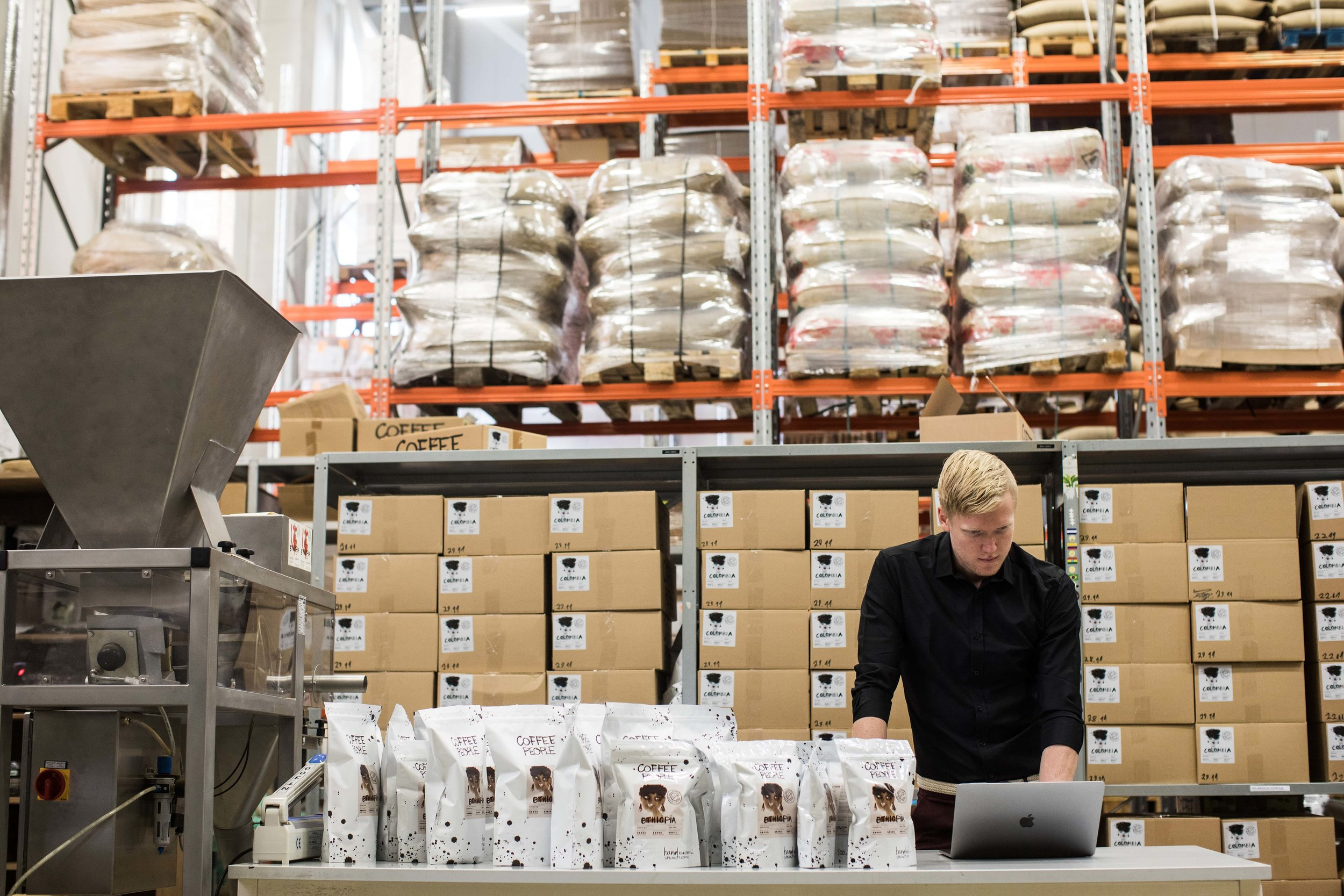 Scaling businesses like the guys at Coffee People use a simple inventory system for small business to make sure their deliveries get out on time. That way they can keep their heads clear and their customers happy.
