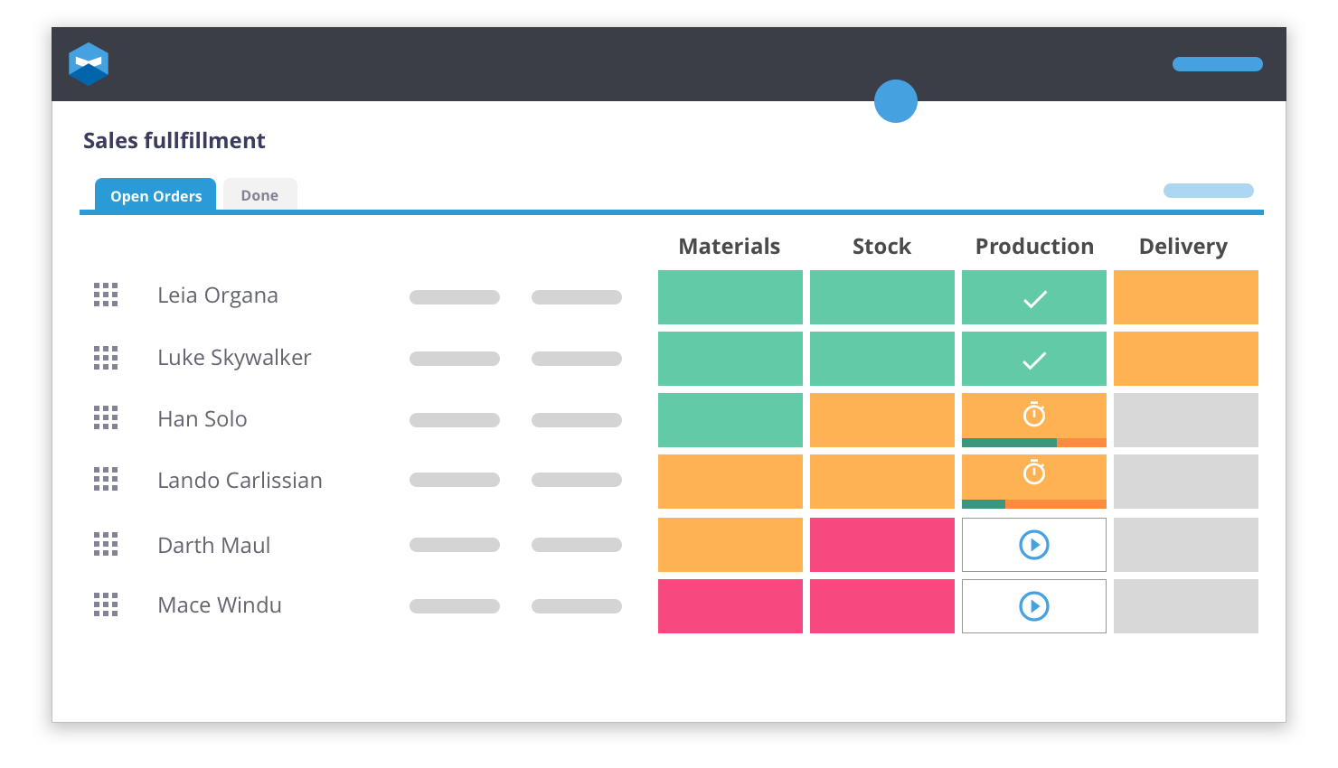 Katana inventory management software has a friendly interface which means keeping your stock up to date is less of a chore. The visual layout has been constructed for ease of use for anyone who needs it.