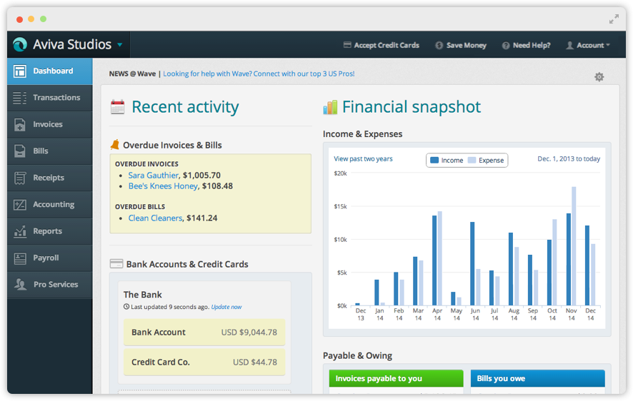 You might not expect a free solution to come up in our list of best accounting software for Shopify, but considering it won't cost you a dime, why not take a look? Especially if you're a one or two person show!