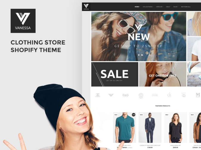 Vanessa is a brilliant example to lead the way for choosing a Shopify theme that converts well for clothing stores.