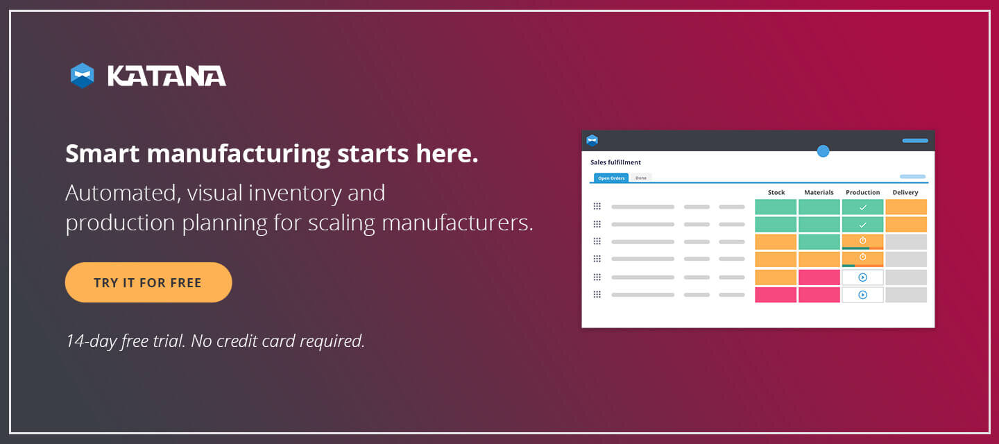 Smart Manufacturing Software will help you keep on top of your kitting packages with smart auto booking.