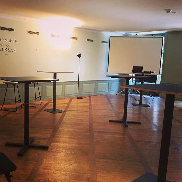 Alles ready für den #Denkanstoss in der @denkbar_bern - in einer Stunde geht es los mit @edyportmann