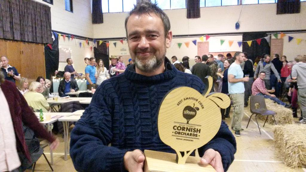 James Coggan wins the Amateur Cider Maker's competition for the second year running.