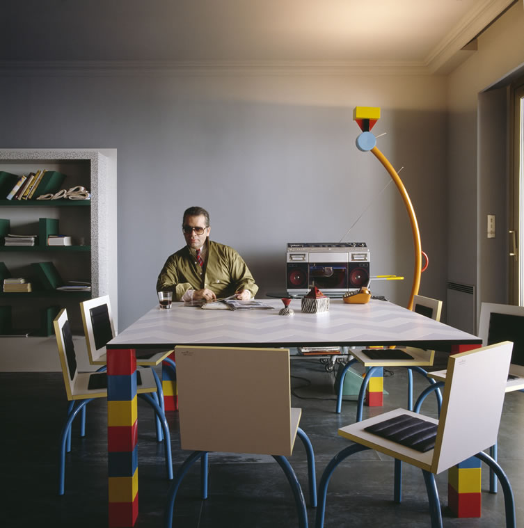 Karl Lagerfeld    and his Memphis Design apartment.