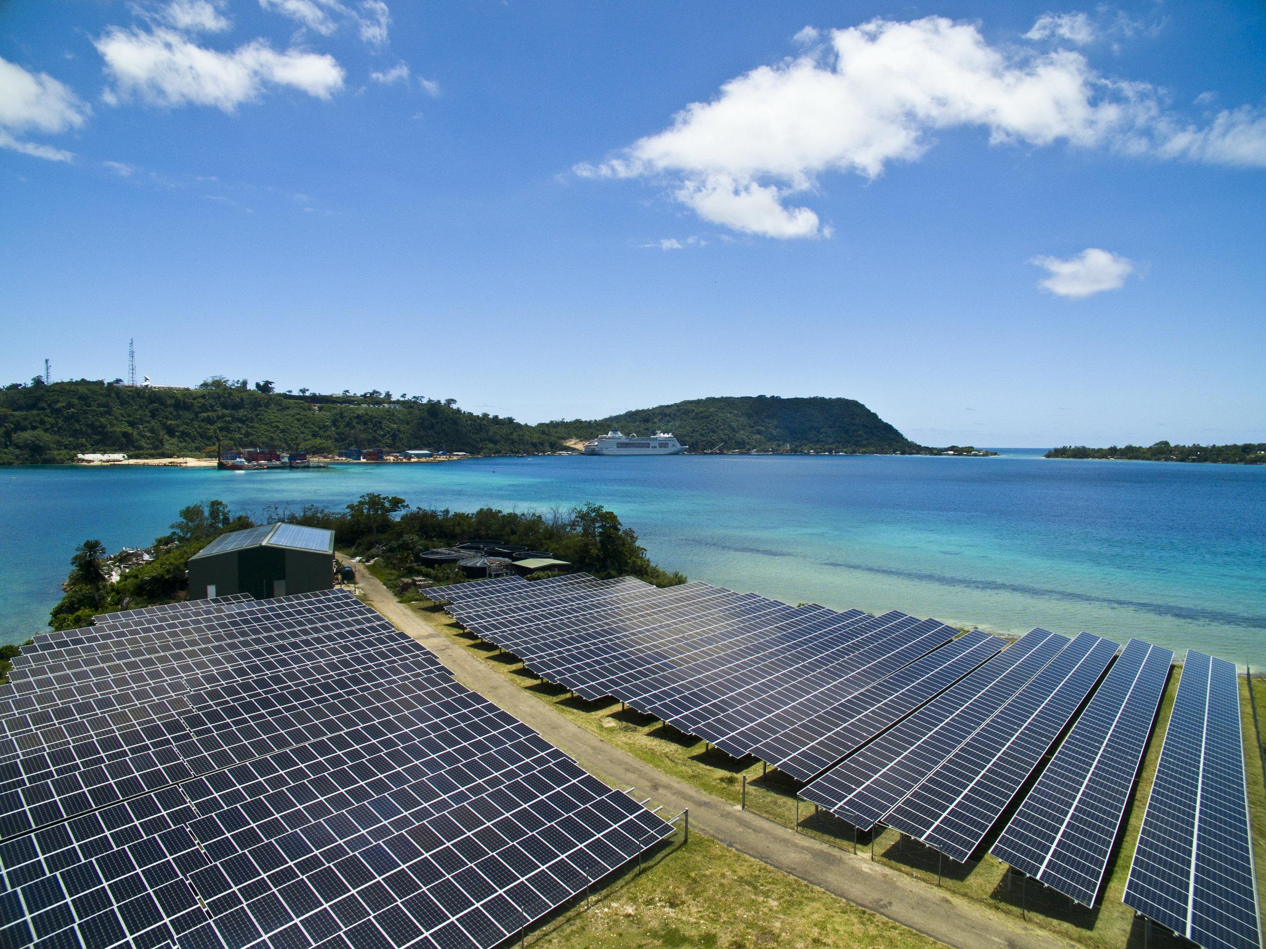 Iririki Resort and Spa Vanuatu solar installation