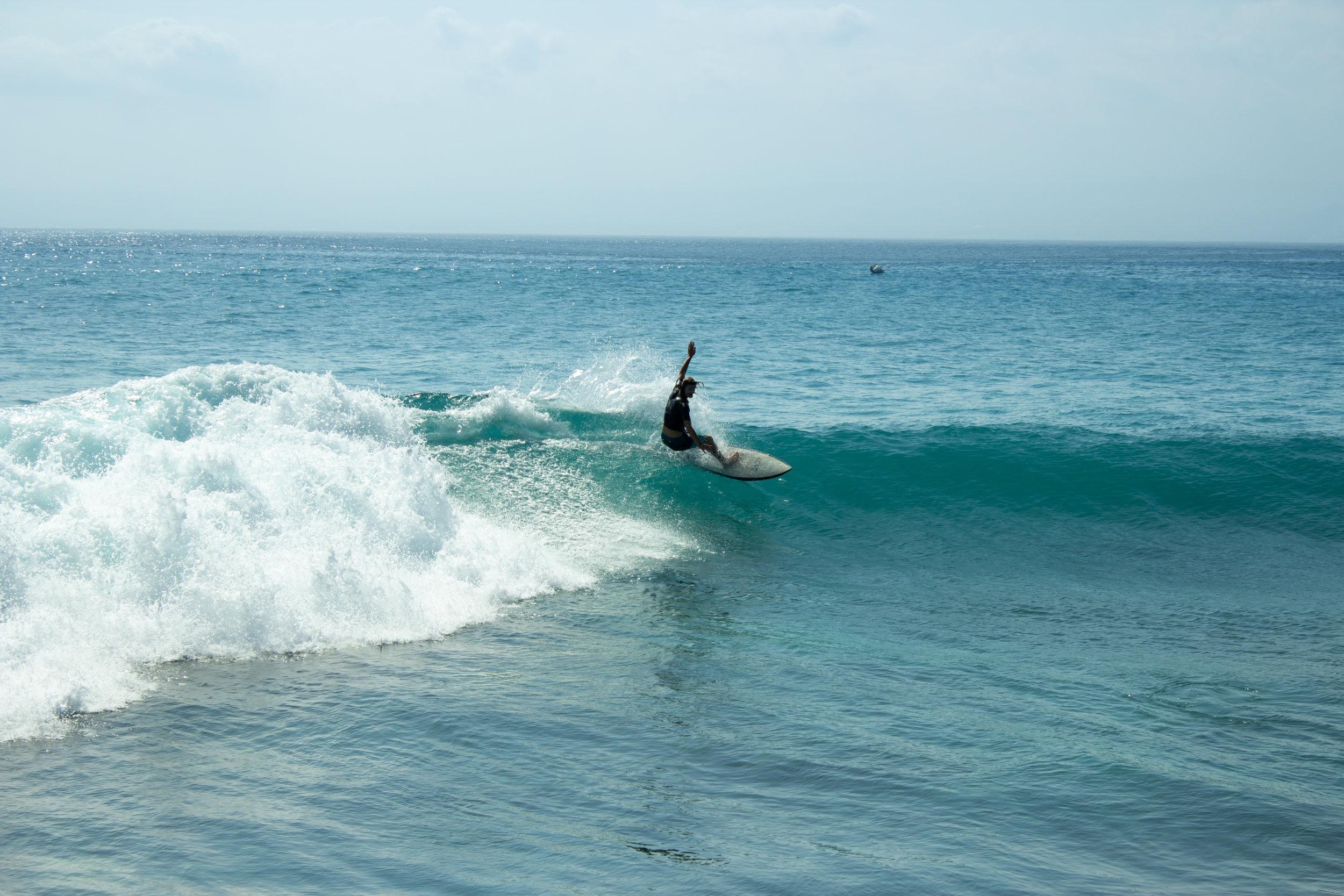 Surf break in Nusa Lembongan