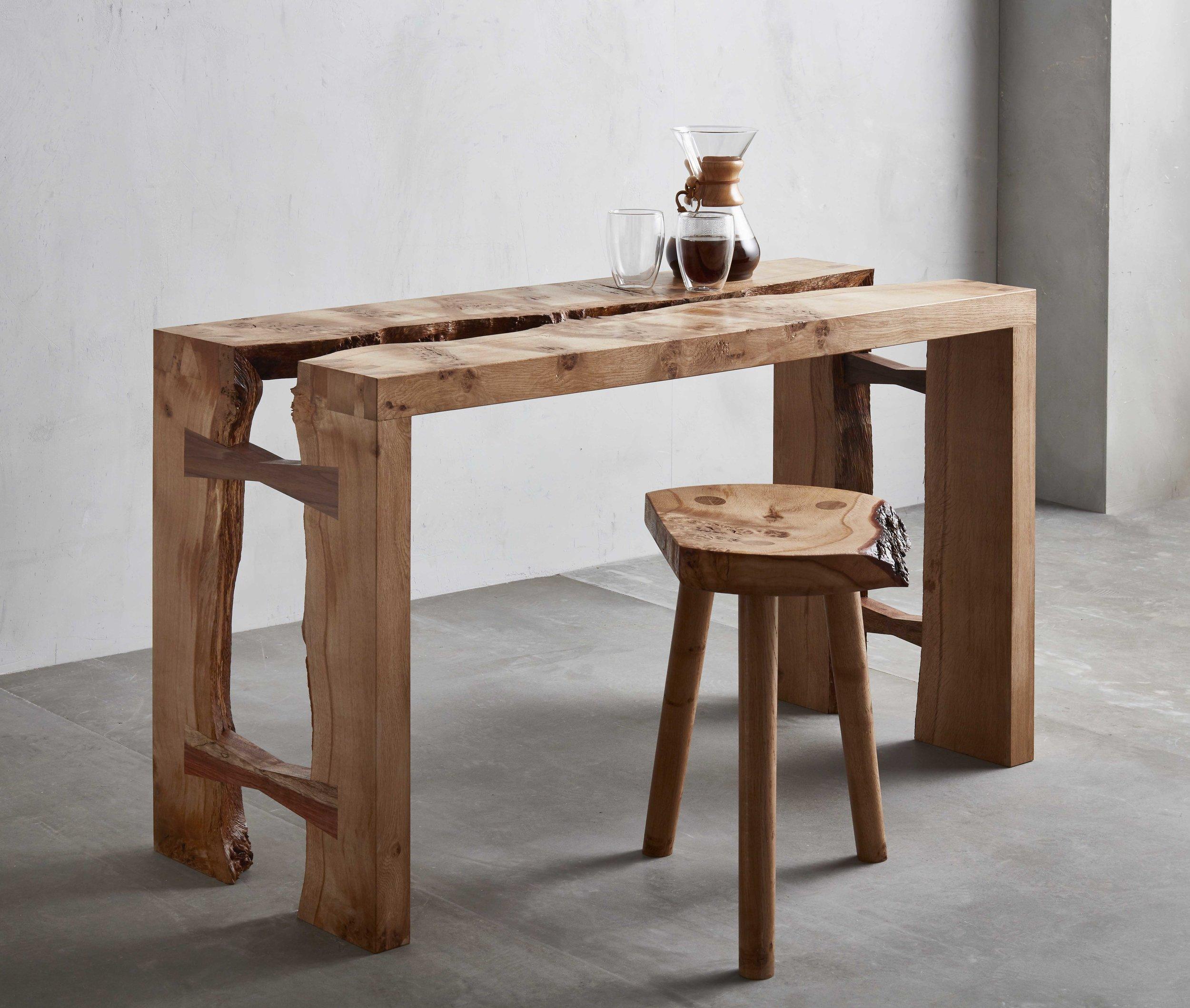 Takumi Woodwork - Oak Workstation and Stool