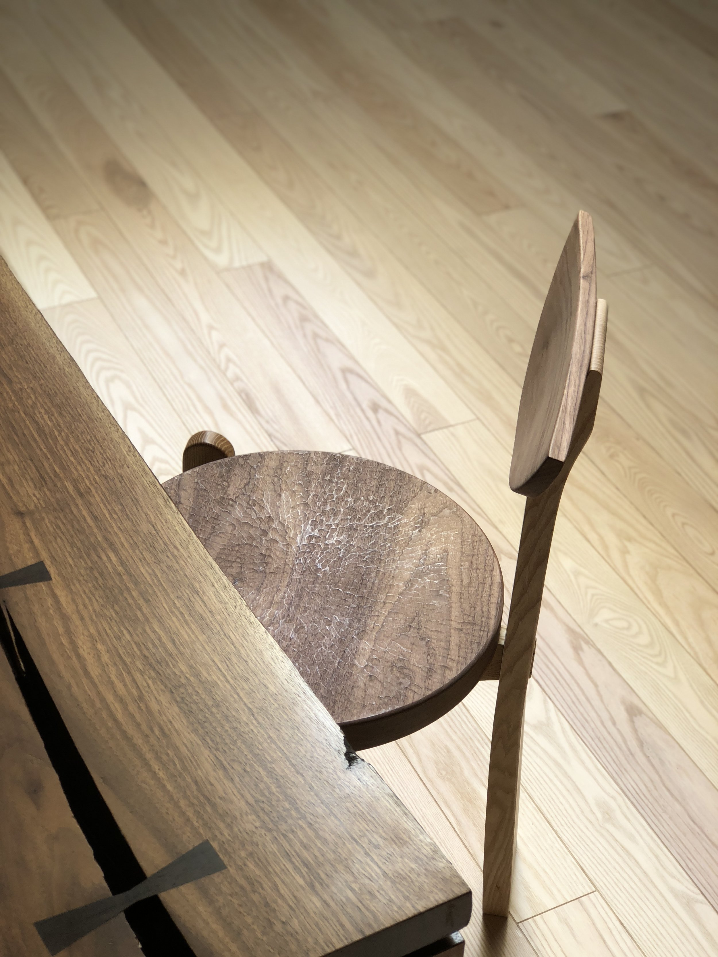 - Our use of these tools and techniques is a result of time spent working with them and alongside the Japanese craftsmen who use themFine woodworking is still commonplace throughout Japan, and our time there has inspired us to emulate their meticulousness and dedication to their work[ pictured - Walnut Dining Tableand Maru Chair ]