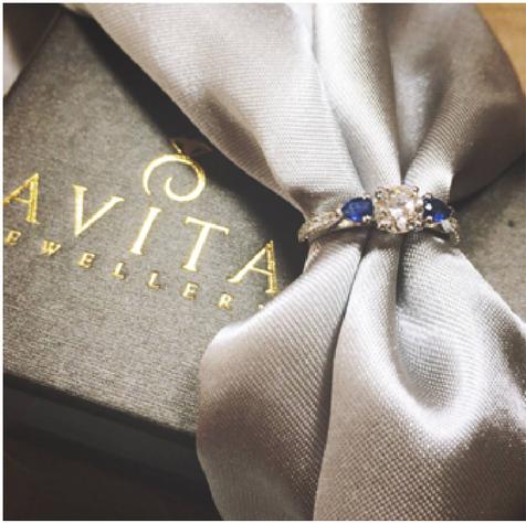 Sapphire ring diamond avita jewellery