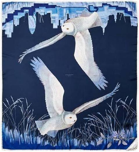 aspinal silk scarf blue scarf christmas gift