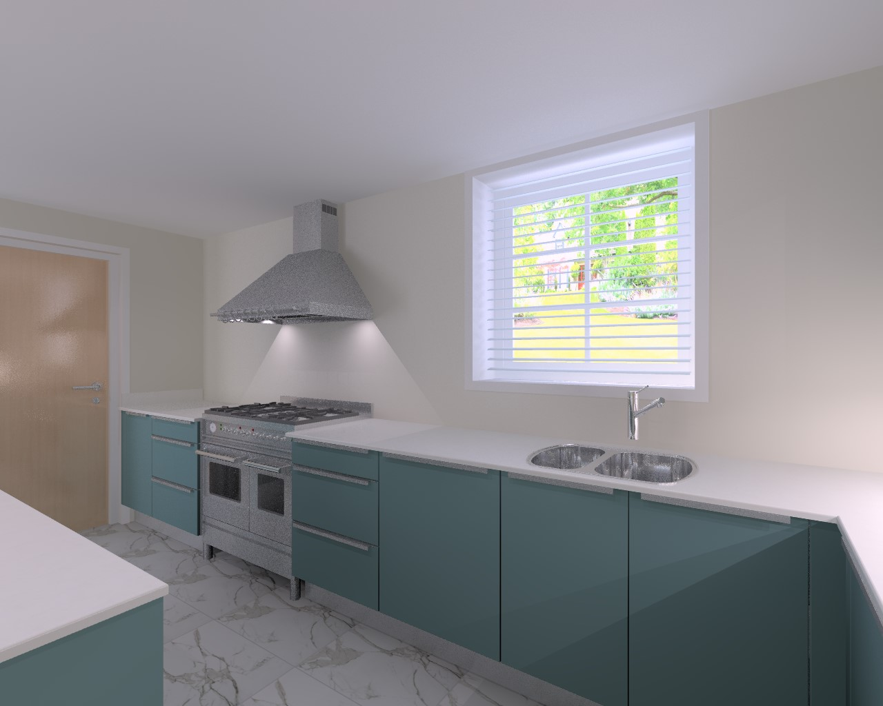 3d visualisation of the clients dream kitchen!