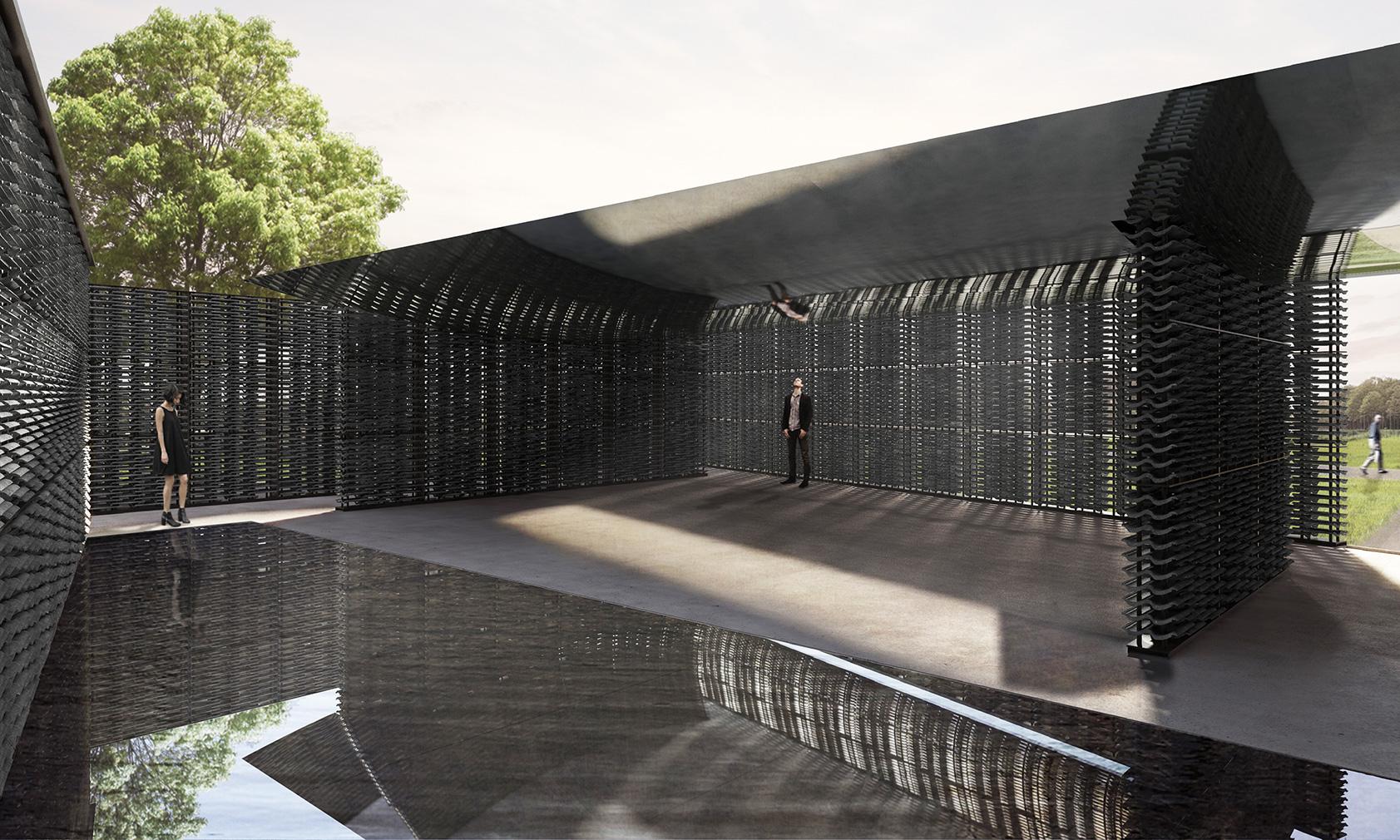Serpentine Pavilion 2018 designed by Frida Escobedo, Taller de Arquitectura, interior view © Frida