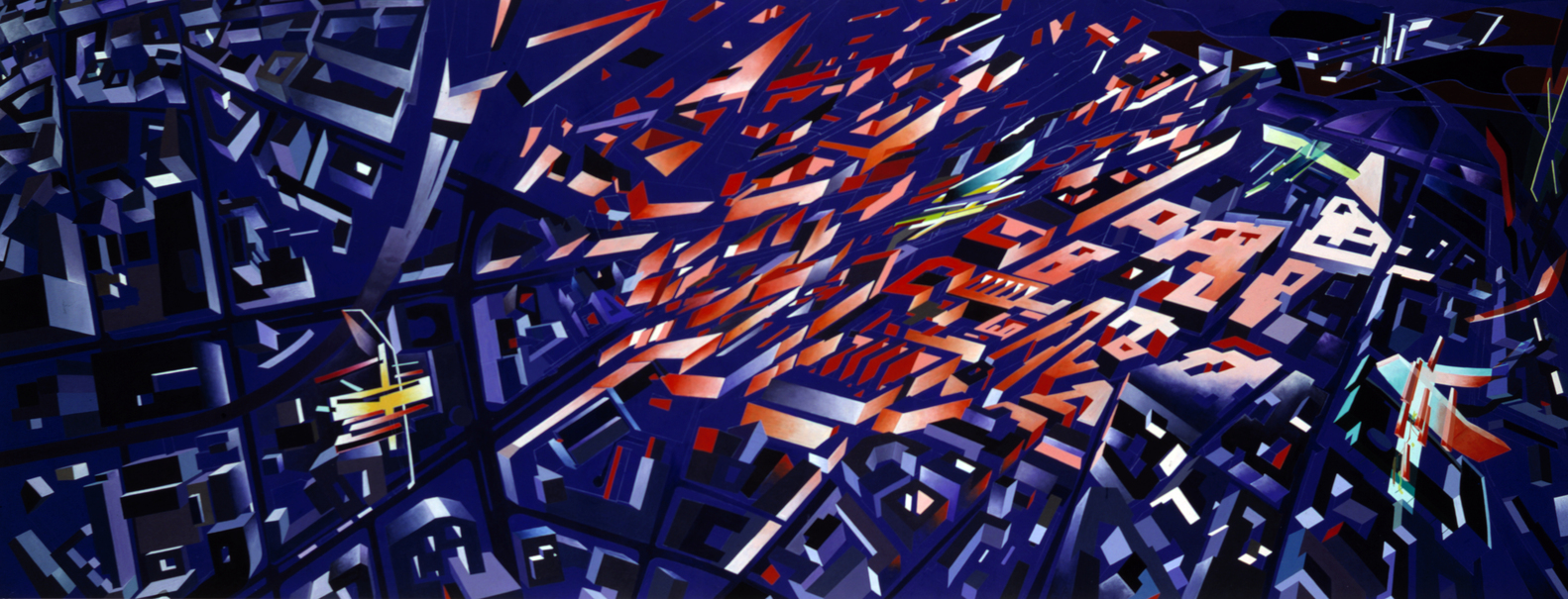 """victoria city aerial perspective"" zaha hadid 1988"