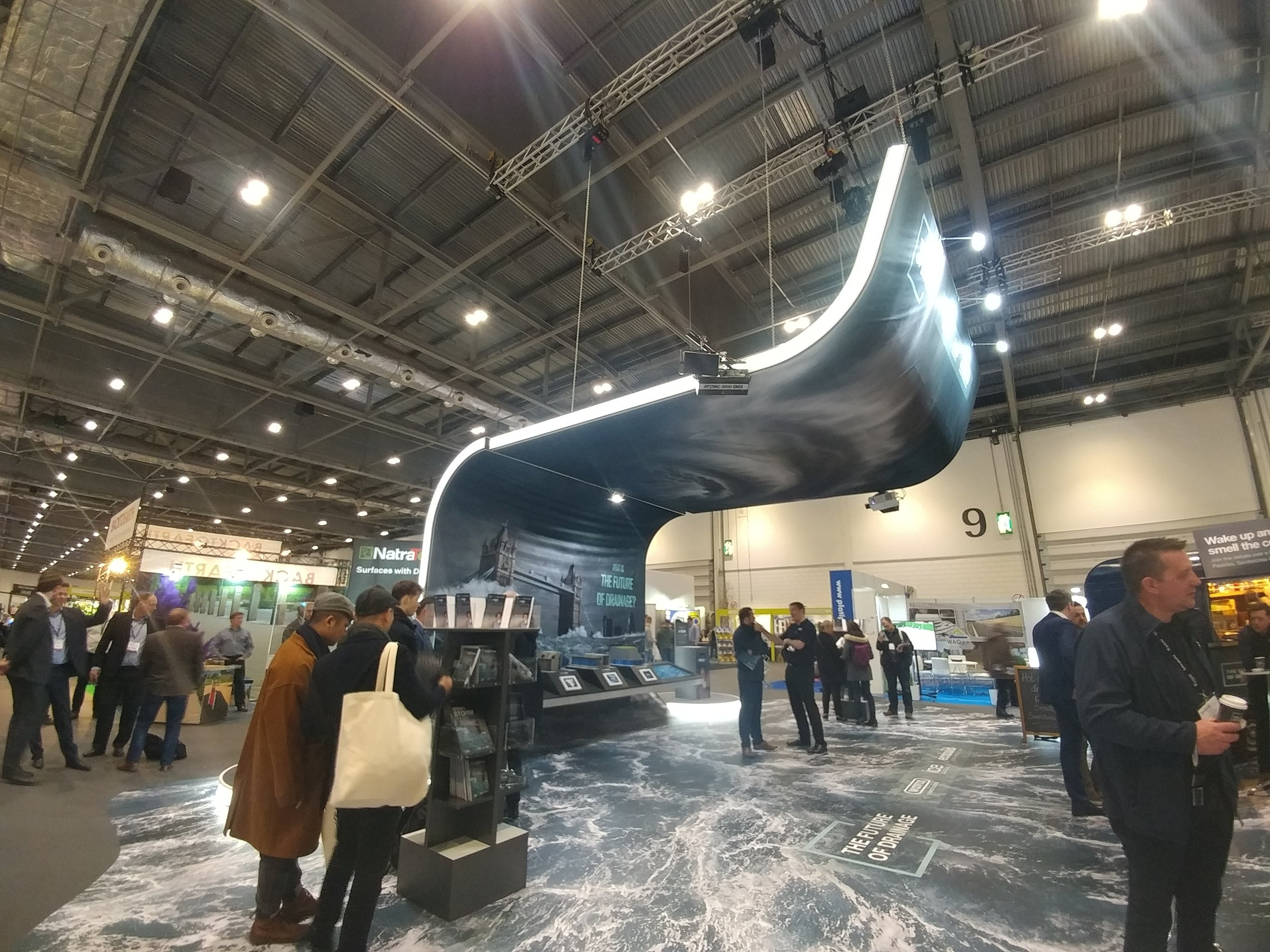 seriously impressive installation by wavin at ecobuild excel 2018!!