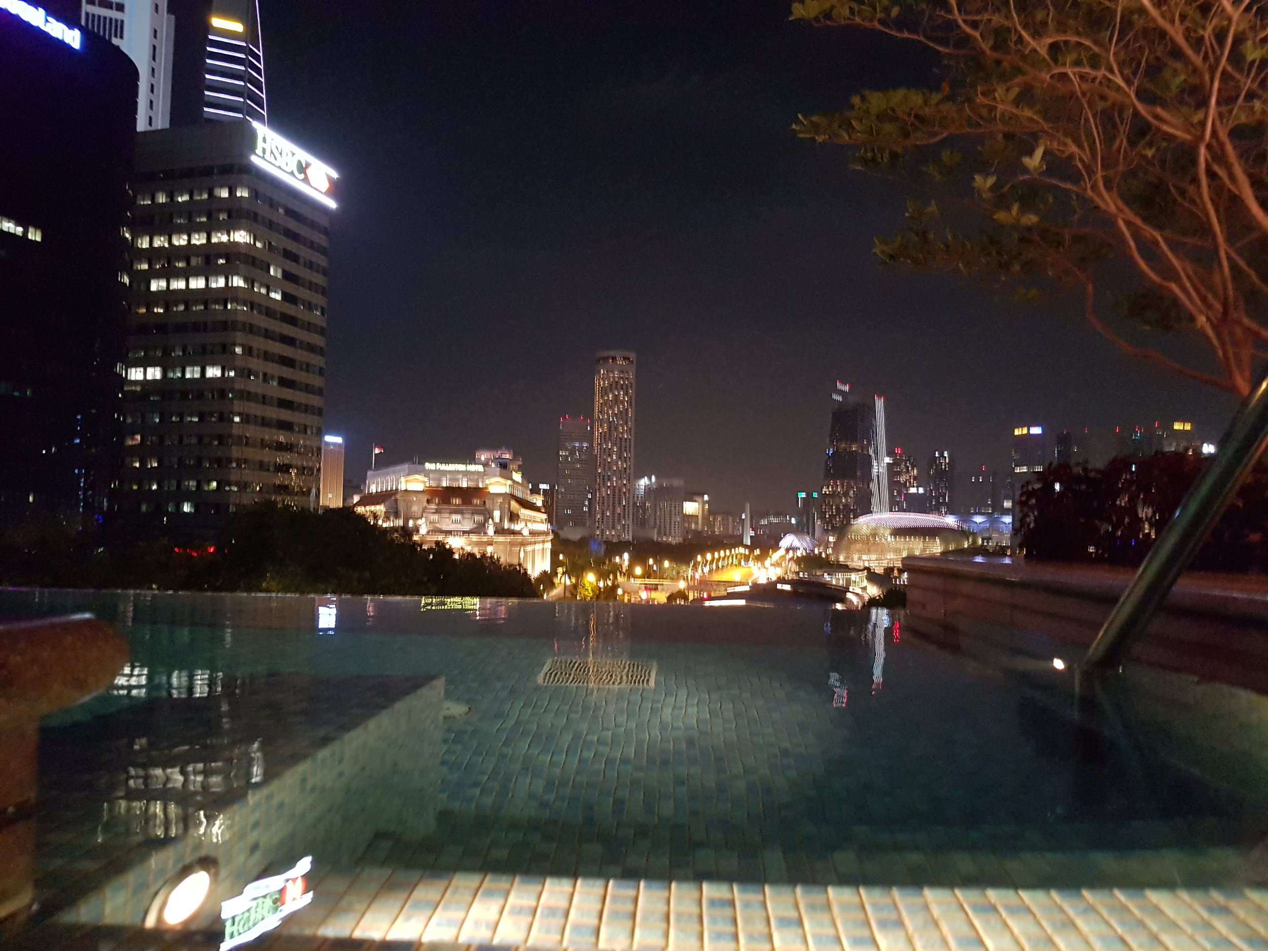 - Check out that view! The infinity pool at the Fullerton Bay Hotel