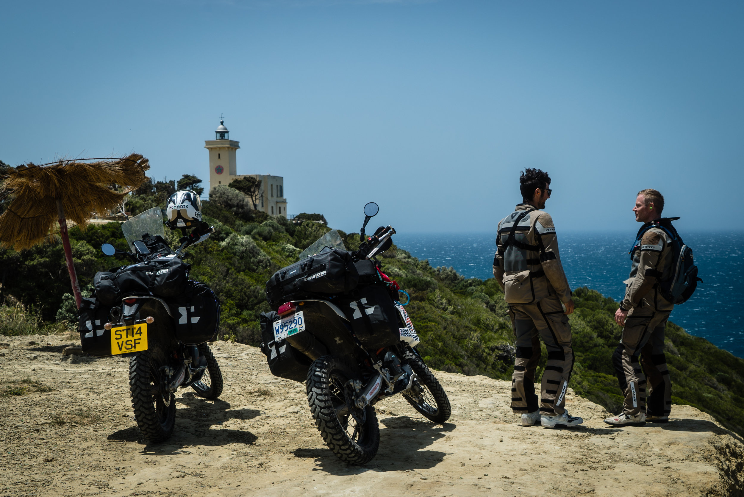 The scenic route from Algecerias to Tangier along the Atlantic.
