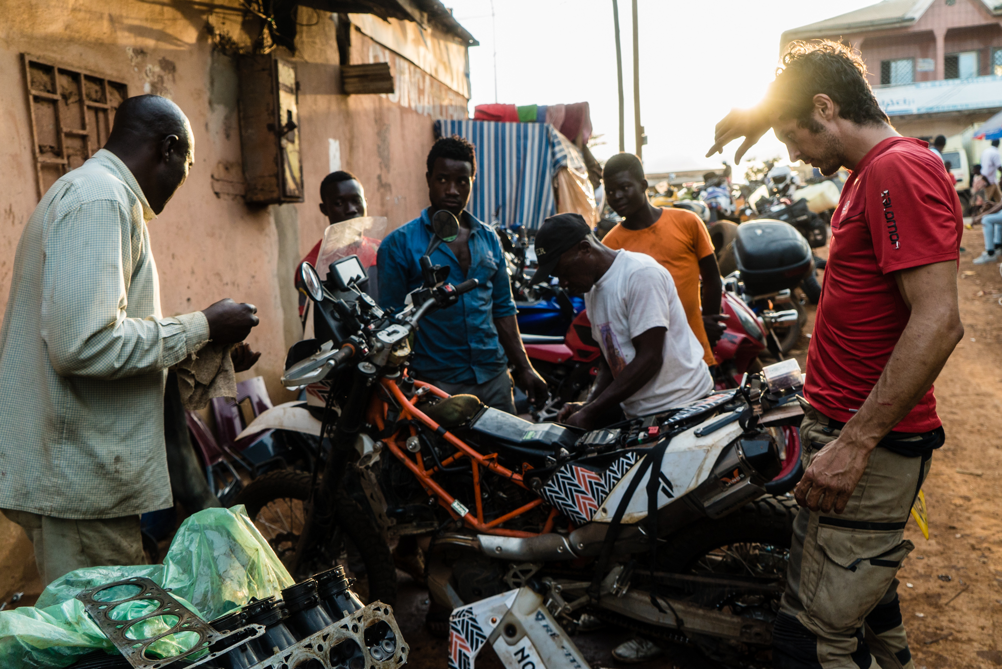 One broken rocker arm, Shaqueel and 5 Cameroonian mechanics and we were back on the road.