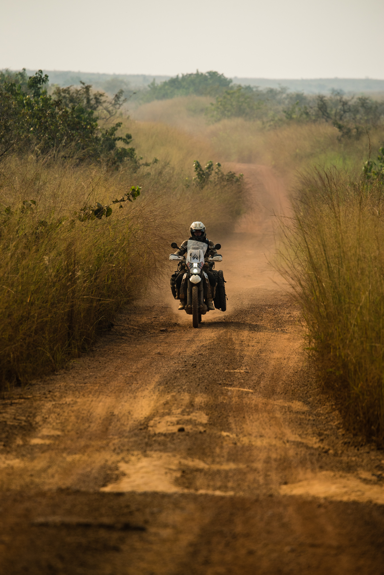 The road from Ndende to the Congo border.