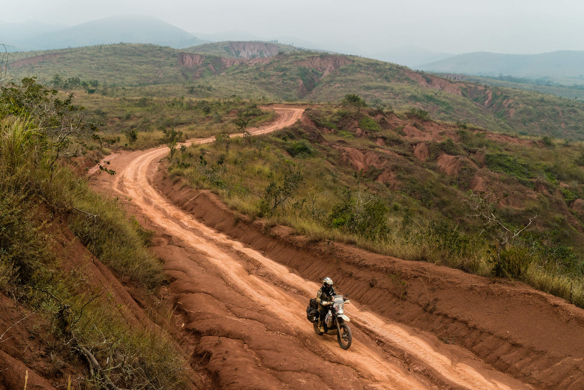 An etheral no-man's land making our way towards the Congo River were we crossed into the DRC.
